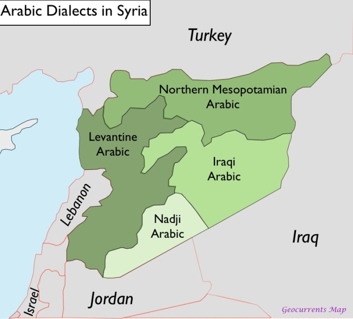 syria-arabic-language-map