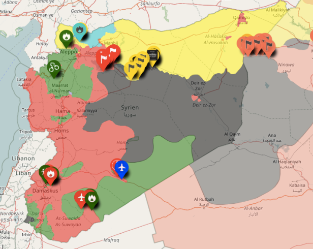 Syrian Civil War screengrab map