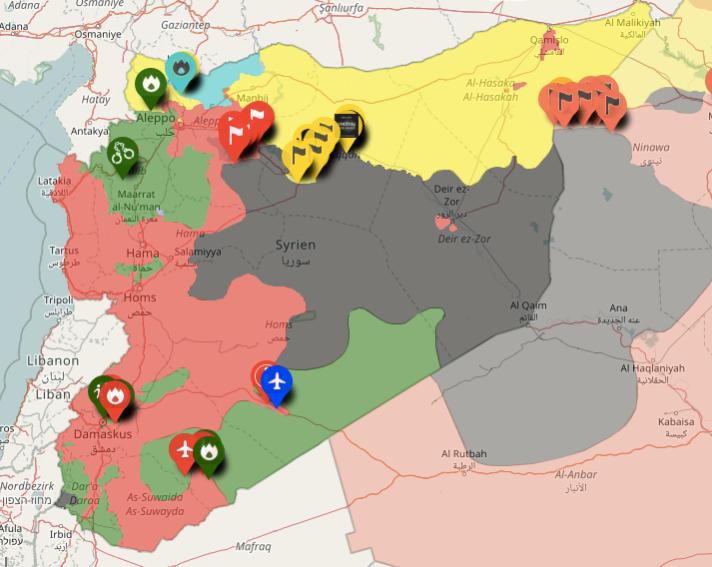 Syrian Civil War screengrab map